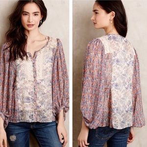 Anthropologie HD in Paris Chinoiserie Blouse